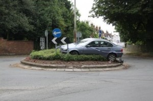 adult learning - car on roundabout