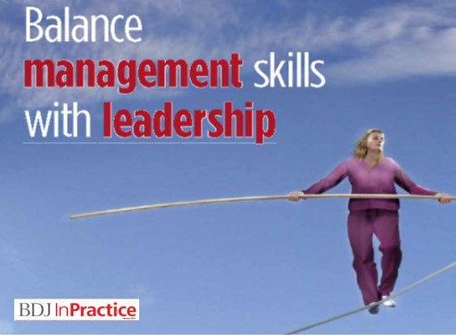 balance management skills with leadership article by Bob Hughes